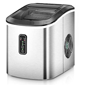 Euhomy Ice Maker Machine Countertop, Makes 26 lbs Ice in 24 hrs-Ice Cubes Ready in 8 Mins, Compact&Lightweight Ice Maker with Ice Scoop and Basket. (Silver) (B07R56HW4G), Amazon Price Tracker, Amazon Price History