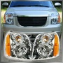 Headlights Headlamps Left & Right Pair Set of 2 for 07-14 GMC Yukon SUV: Profile Image