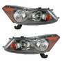Front Headlights Headlamps Lights Lamps Pair Set for 08-12 Honda Accord Sedan: Profile Image